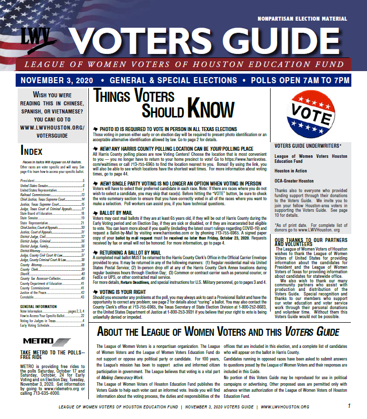 2020 Voters Guide English Page 1